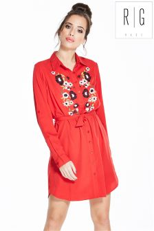 Rage Embroidered Longline Blouse