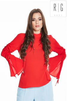 Rage Rouched Sleeve Top