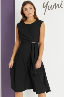 Yumi Soft Drape Eyelet Dress