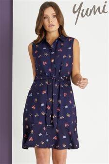 Yumi print Shirt Dress