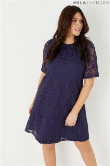 Mela London Curve Lace Tunic Dress