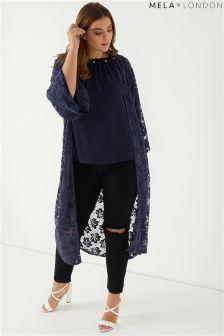 Mela London Curve Lace Maxi Kimono