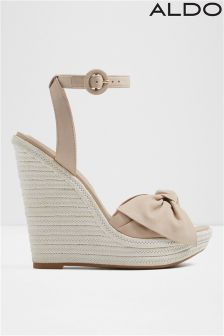 Aldo Bow Detail High Wedges