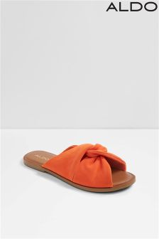 Aldo Knot Detail Leather Slides