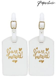 Paperchase Wedding Luggage Tag Set