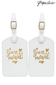 Paperchase Set mit Gepäckanhängern für frisch Verheiratete