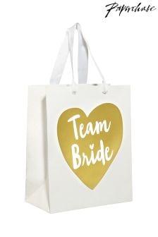 """Paperchase """"Team Bride"""" Geschenktasche mit Hochzeitsmotto"""