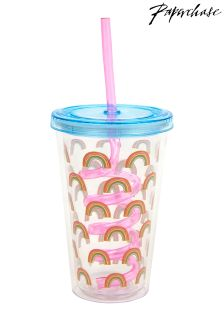 Paperchase Rainbow Cup With Straw