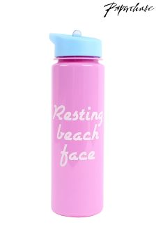 Paperchase Resting Beach Face Waterbottle