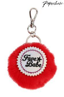 Paperchase Fave Babe Pom Pom Keyring