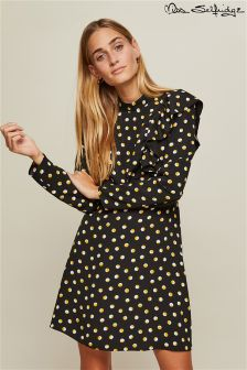 Miss Selfridge Emily High Neck Polka Dot Dress
