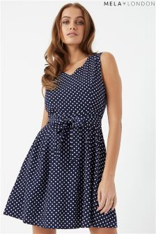 Mela London Polka Dot Skater Dress