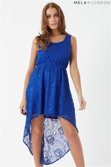 Mela London Lace High Low Dress