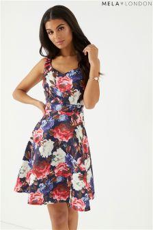 Mela London Floral Prom Dress