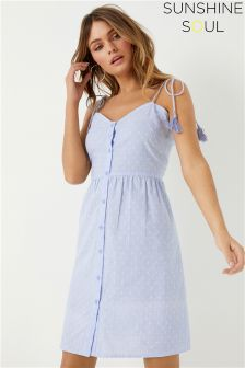 Sunshine Soul Button Front Cami Dress