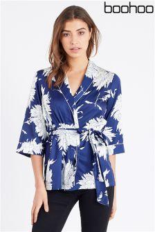 Boohoo Oriental Print Kimono