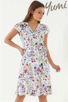 Yumi Frill Hem Jersey Dress