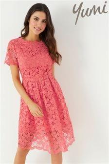 Yumi Guipure Lace Dress