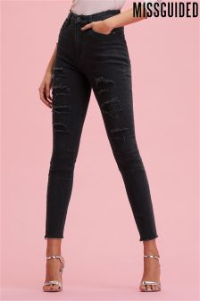 Missguided Sinner Extreme Ripped Skinny Jeans