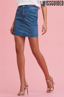 Missguided Superstretch Denim Stonewash Mini Skirt