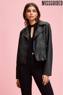 Missguided PU Biker Jacket