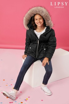 Lipsy Faux Fur Hooded Jacket