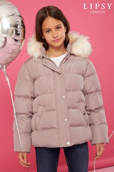Lipsy Girl Faux Fur Padded Coat