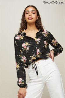 Miss Selfridge Tie Front Shirt