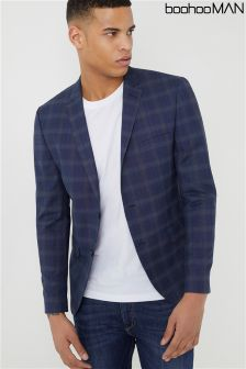 Boohoo Man Check Skinny Fit Suit: Jacket