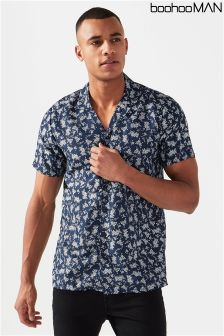 Boohoo Man Floral Print Collared Shirt