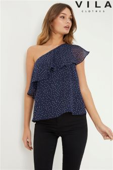 Vila One Shoulder Blouse
