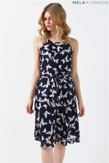 Mela London High Neck Lace Butterfly Dress