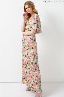 Mela London Rose Print Maxi Dress