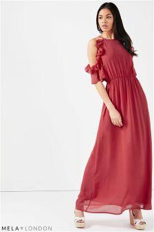 Mela London Side Frill Maxi Dress