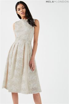 Mela London Lace Detail Prom Dress