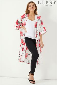 Lipsy Printed Long Kimono