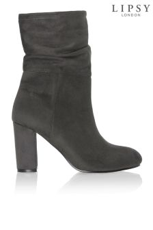 Lipsy Mid Rouched Ankle Boot