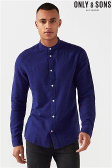 Melanżowa koszula z długim rękawem Only & Sons Thomas