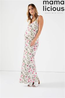Mamalicious Maternity Floral Print Maxi Dress