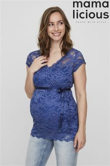 Mamalicious Maternity Cap Sleeve Woven Top