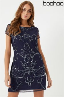 Boohoo Embellished Shift Dress