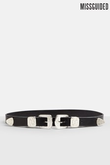 Missguided Western Double Buckle Belt