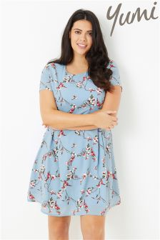 Yumi Bird Printed Dress