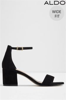 Aldo Ankle Strap Wide Fit Block Heels