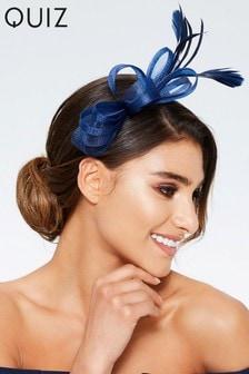 Quiz Bow Feather Headband