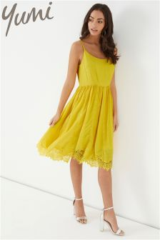 Yumi Lace Trim Dress