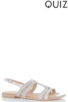 Quiz Gladiator Flat Sandals