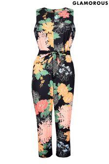 Glamorous Curve Printed Jumpsuit