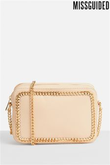 Missguided Chain Trim Cross Body Box Bag