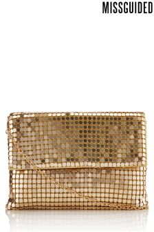 Missguided Circular Chain Fold Over Clutch